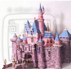 Sleeping Beauty Castle Papercraft ... WOW!    http://mousetalestravel.com/jenny-thrasher/