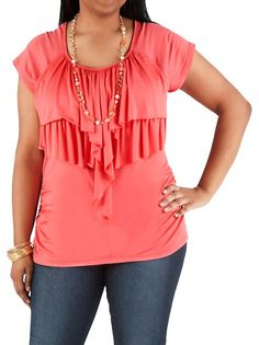 dots: Plus Ruffle Tier Front Top ... $16.00