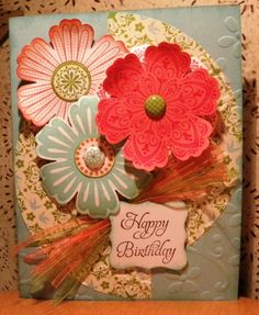 Mixed Bunch stamp and Blossom punch from Stampin' Up!