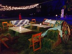 Hay bale couch