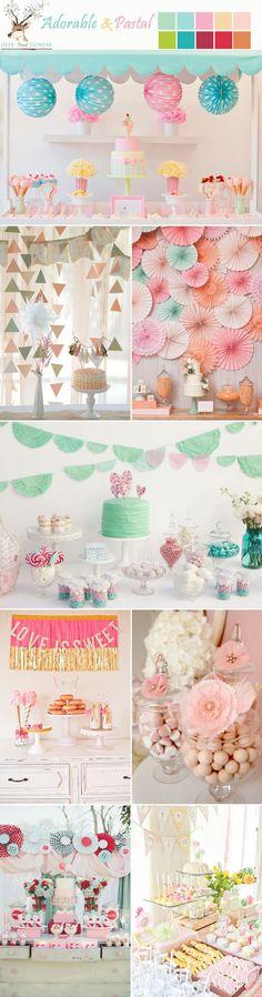 Ideas para mesas de postres estilo súper encantador. #MesasDePostres