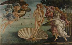 The Birth of Venus, Sandro Botticelli, 1486.