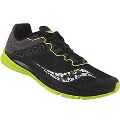 Saucony Fastwitch 8 Running Shoes - Mens Black Citron