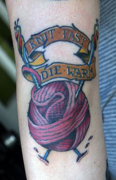 Knitting tattoo that must happen