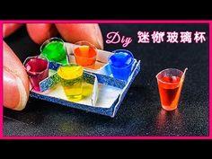 DIY 達人制作小小mini迷你玻璃杯 彩虹汽水 手工制作 汽水 可口可乐 - YouTube