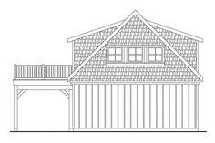 Craftsman Plan: 838 Square Feet, 1 Bathroom - 035-00857 Garage Building Plans, Building A Shed Roof, Garage Plans With Loft, Basement Plans, Small Cottage House Plans, Barn House Plans, Garage Apartment Plans, Garage Apartments, Carriage House Garage