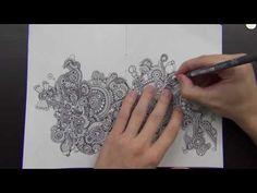 Drawing in my Book #38 (Mandala Jambalaya) - YouTube