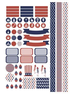 USA Patriotic 4th of July Printable Planner by PrintThemAllStudio