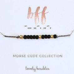 BFF Morse Code Bracelet. Perfect holiday gifts!