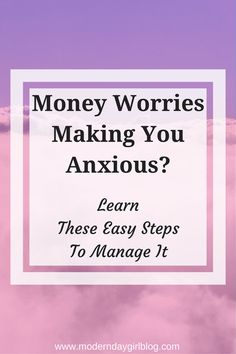 Do money worries make you anxious? Does it stress you out? Learn these easy steps to reduce anxiety from your cash worries by reading now!