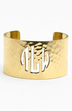 Free shipping and returns on Rustic Cuff Personalized Monogram Cuff at Nordstrom.com. A custom hand-cut monogram classically personalizes a hammered cuff plated with shiny precious metal.