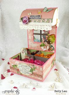 How to Make a Sweet Chocolate Bar With Graphic 45 and Petaloo by Belly Lau Chocolates, Scrapbook Box, Christmas Gingerbread House, 3d Paper Crafts, Card Making Tutorials, Graphic 45, Easy Gifts, Altered Art, Altered Books