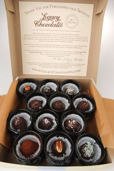Best. Truffles. Ever. EVER! :-P (Legacy Chocolates in Menomonie, WI)