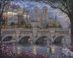 Afternoon By The River - by Robert Finale - http://www.parsonsthomaskinkadegallery.com/afternoon-river-robert-finale/
