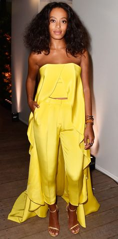 Look of the Day - December 4, 2014 - Solange Knowles in Christian Siriano from #InStyle