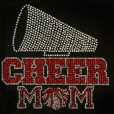 Cheer Mom w/ Megaphone Bling T from Dazzling Diva Designs for $21.00