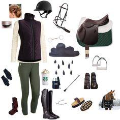 Rainy Day Riding ☔️☁️⚡️ - Polyvore