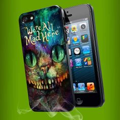 Cheshire Cat Alice in Wonderland we're all mad here Colorful Galaxy for iPhone 4/4s/5/5s/5c, Samsung Galaxy s3/s4 case
