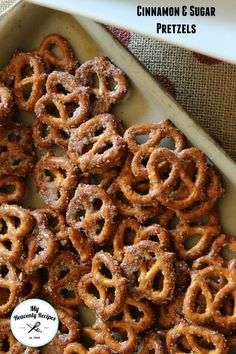 Cinnamon and Sugar Pretzels make a GREAT Snack!  There's a VIDEO too on the post from My Heavenly Recipes.