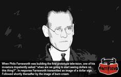The Inventor of Television Had a Sense of Humor - http://www.factfiend.com/inventor-television-sense-humor/ - #Inventor, #PhiloFarnsworth, #Smartass, #Television, #TV