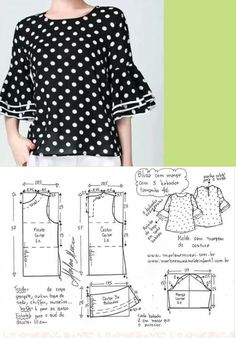Blouse Patterns, Clothing Patterns, Blouse Designs, Free Clothes, Diy Clothes, Sewing Blouses, Sewing Pants, Make Your Own Clothes, Easy Sewing Patterns