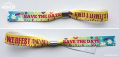 Music festival style wristbands for your wedding!