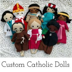 Custom Catholic Saint Fabric Doll, Custom Patron Saint Doll, Catholic Doll, Catholic Toy by TheLittleRoseShop on Etsy https://www.etsy.com/listing/220320276/custom-catholic-saint-fabric-doll-custom