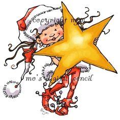 Mo's Digital Pencil - Little Elf Kit, Christmas Card Images, Christmas Yard Art, Christmas Rock, Christmas Applique, Christmas Drawing, Christmas Scenes, Christmas Stickers, Christmas Vases, Christmas Canvas