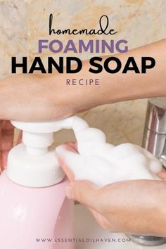 Essential Oils Soap, Essential Oil Diffuser Blends, Young Living Essential Oils, Foaming Hand Soap Dispenser, Foaming Soap, Homemade Hand Soap, Soap Making, Hand Making, Soap Recipes
