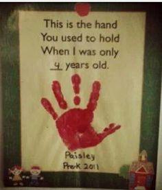Hand print idea