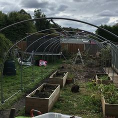 Ridge is up and tensioned temporarily. More later! Outdoor Structures, Garden, Plants, How To Make, Instagram, Garten, Lawn And Garden, Flora, Gardening