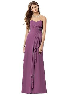 Strapless Full Length Bridesmaid Dress In Radiant Orchid After Six 6684 Http