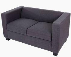 2er Sofa Couch Loungesofa Lille Textil 70x75x137 cm ~ anthrazit: Amazon.de: Küche & Haushalt