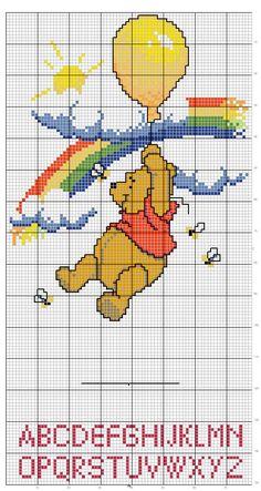 Schema punto croce Alfabeto winnie the pooh