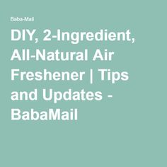 DIY, 2-Ingredient, All-Natural Air Freshener | Tips and Updates - BabaMail