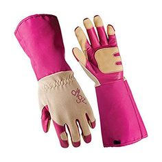 Digz Women's Long Cuff Grain Goatskin Rose Picker Gloves Extended Cuff Heavy Duty - Medium, 1 Pair-  *** Want to know more, visit the site now : Gardening Supplies