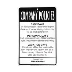 Hopefully you're not working in an #office with these sorts of policies!