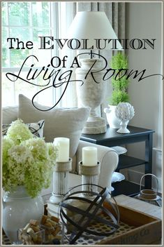 THE EVOLUTION OF A LIVING ROOM- A total makeover from the floors up! Lots of inspiraiton