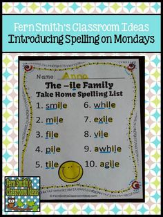 A way to introduce Spelling on Monday morning with spelling/word work lists. Plus a #Giveaway