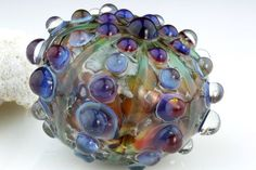 Handmade lampwork blown boro glass sea urchin by LoriLochner, $46.50