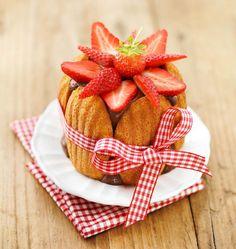 Charlotte express fraises chocolat - les meilleures recettes de cuisine d'Ôdélices