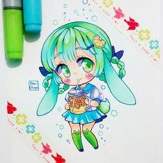 Learn To Draw Manga - Drawing On Demand Copic Drawings, Anime Girl Drawings, Kawaii Drawings, Manga Drawing, Cute Drawings, Art Kawaii, Kawaii Chibi, Cute Chibi, Anime Kawaii