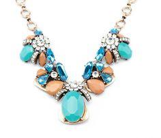 turquoise bubble necklace  .