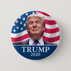 Donald Trump Photo - President 2020 - enough said Pinback Button, Adult Unisex, Size: ¼ Inch, Fire Brick / Navy / Crimson Our President, Running For President, Donald Trump Photos, Photo Blue, Custom Buttons, Chicago Cubs Logo, Presidents, Politics, Brick