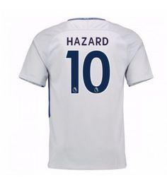 Billiga Chelsea Eden Hazard 10 Bortatröja 17-18 Kortärmad Eden Hazard, Chelsea Fc, Premier League, Tops, Chelsea F.c.