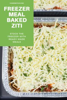 How To Make Freezer Meal Baked Ziti with homemade meat sauce and a delicious ricotta cheese filling Homemade Meat Sauce, Meat Sauce Recipes, Rib Recipes, Easy Dinner Recipes, Slow Cooker Recipes, Carrot Recipes, Crockpot Recipes, Breakfast Recipes, Dessert Recipes