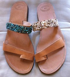 Items similar to Handmade Genuine Leather Ladies Sandals on Etsy Ladies Sandals, Palm Beach Sandals, Trending Outfits, Lady, Unique Jewelry, Handmade Gifts, Leather, Shoes, Fashion