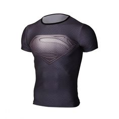 Top quality compression t-shirts Superman/Batman/spider man/captain America gym fitness men t shirts