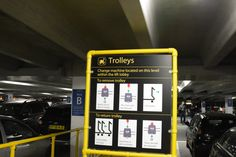 Save your arm strain with the luggage, use the trolleys!