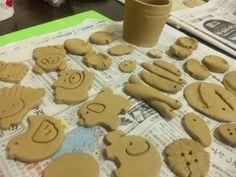のばしてクッキー型で抜けば簡単。